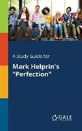 A Study Guide for Mark Helprin's Perfection