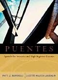 Puentes: Spanish for Intensive and High-Beginner Courses (with Audio CD) with CD (Audio)