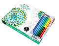 Vive Le Color Harmony Coloring Book & Pencils Color Therapy Kit