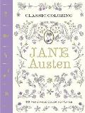 Classic Coloring Jane Austen Adult Coloring Book 55 Removable Coloring Plates