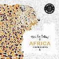 Vive Le Color Africa Coloring Book Color In de Stress 72 Tear Out Pages
