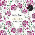 Vive Le Color Roses Adult Coloring Book Color In de Stress 72 Tear Out Pages