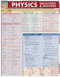 Physics Equations & Answers Laminated Reference Chart