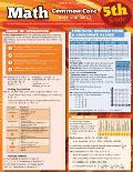 Math Common Core 5th Grade Laminated Reference
