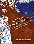As I Grow! What Do I Know?: A Workbook for the Development of Pre-School - Kindergarten