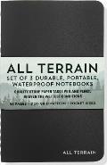 All Terrain Waterproof Notebook 3 Pack