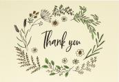 Native Botanicals Thank You Notes (Stationery, Note Cards, Boxed Cards)