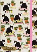 CAL22 16 Month Weekly Cats Compact Engagement Calendar