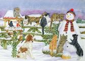 Snowman and Friends 1000 Piece Jigsaw Puzzle