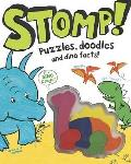 Stomp! - Dinosaur Activity Book With Shaped Crayons
