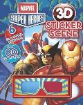 Marvel Super Heroes 3D Sticker Scene