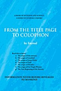From the Title Page to Colophon