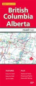 British Columbia and Alberta Road Map
