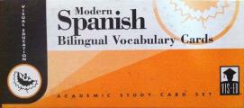 Modern Spanish: Bilingual Vocabulary Cards