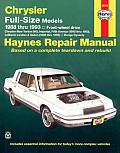 Chrysler Full Size Models Repair Manual 1988 1993 Front Wheel Drive