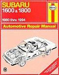 Subaru 1600 & 1800 Repair Manual 1980 thru 1994