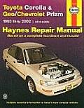 Toyota Corolla & Geo Chevrolet Prizm 1993 thru 2002