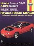 Honda Civic & CRV Acura Integra Honda Civic 1996 Thru 2000 Honda Cr V 1997 2001 Acura Integra 1994 Thru 2000