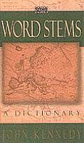 Word Stems A Dictionary