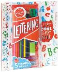Lettering in Crazy Cool Quirky Style With Sharpener Practice & Sticker Paper Markers & Pencil & Colored Pencils & Stencils & Er
