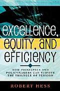 Excellence Equity & Efficiency How Principals & Policymakers Can Survive the Triangle of Tension