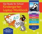 Get Ready for School Kindergarten Laptop Workbook Uppercase Letters Phonics Lowecase Letters Spelling Rhyming