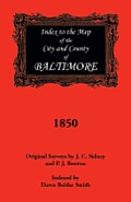 Index to the 1850 Map of Baltimore City and County
