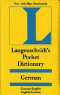 Langenscheidt Pocket German Dictionary Blue