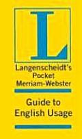 Langenscheidts Pocket Merriam Webster Guide To English Usage