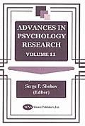 Advances in Psychology Researchvolume 11