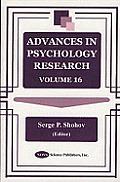 Advances in Psychology Researchv. 16