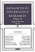 Advances in Psychology Researchv. 26