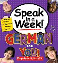 Speak in a Week German for You With Activity Book & Stickers & Erasable Marker & Audio CD