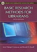 Basic Research Methods for Librarians 5th Edition