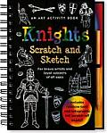 Knights Scratch & Sketch For Brave Artists & Loyal Subjects of All Ages With Wooden Stylus
