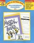 Vocabulary Centers, 4-5
