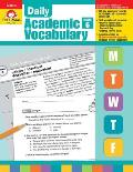 Daily Academic Vocabulary, Grade 6 [With Transparencies]
