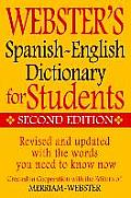Websters Spanish English Dictionary for Students Second Edition