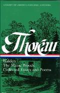 Thoreau Walden Maine Woods Essays & Poem