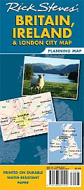 Rick Steves Britain Ireland & London City Map Planning Map