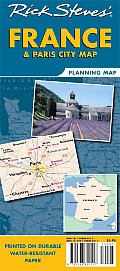 Rick Steves France & Paris City Map Planning Map