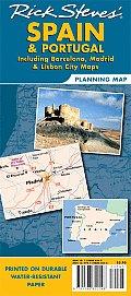 Rick Steves Spain & Portugal Planning Map Including Barcelona Madrid & Lisbon City Maps