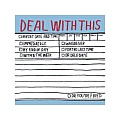 Deal With This Hand Lettered Sticky Notes