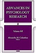 Advances in Psychology Researchvolume 64