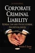 Corporate Criminal Liability