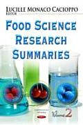 Food Science Research Summariesvolume 2