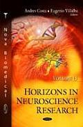 Horizons in Neuroscience Researchvolume 15