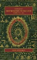 History of Freemasonry in England from 1567 to 1813