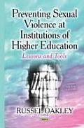 Preventing Sexual Violence at Institutions of Higher Education