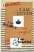 I Am Talented I Am Magic...Vintage Navy Notebook for Bussines, Office, Boss, Captain Mens, Boys, Sailor Lovers